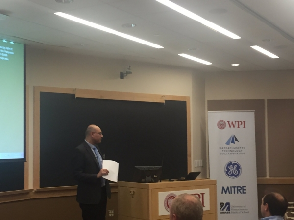 Dr. Waseem Naqvi, President AUVSI New England, presiding over annual chapter meeting